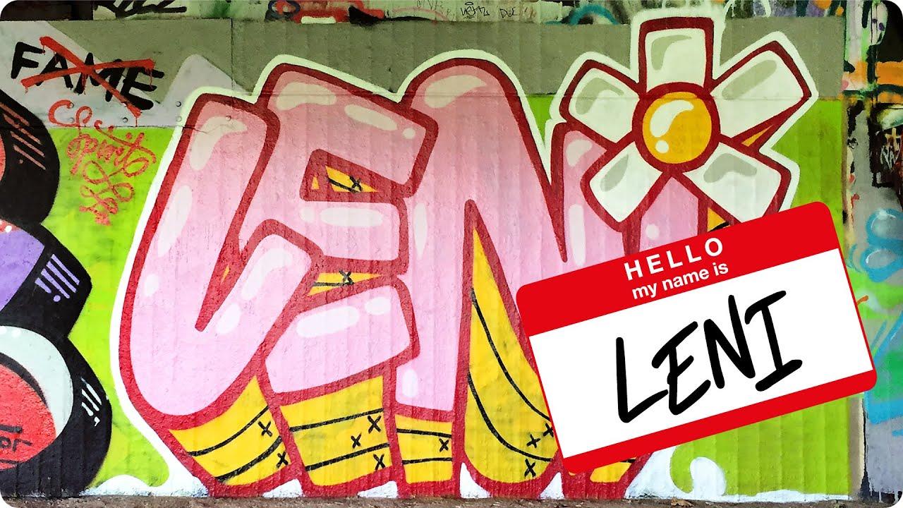 Graffiti Hello My Name Is Leni
