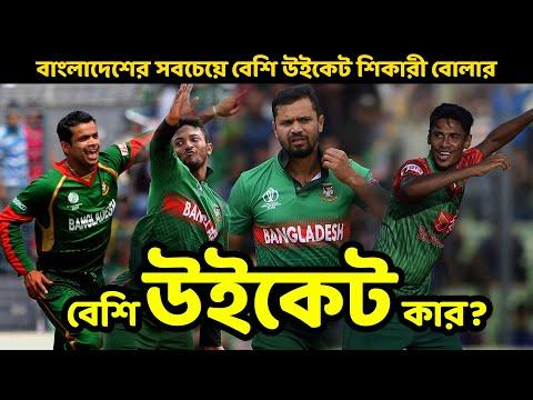 বাংলাদেশ ক্রিকেট ইতিহাসে সবচেয়ে বেশি উইকেট শিকারী ১০ বোলার। Most Wicket Taker in Bangladesh Cricket