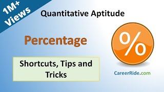 Percentage -  Shortcuts & Tricks for Placement Tests, Job Interviews & Exams