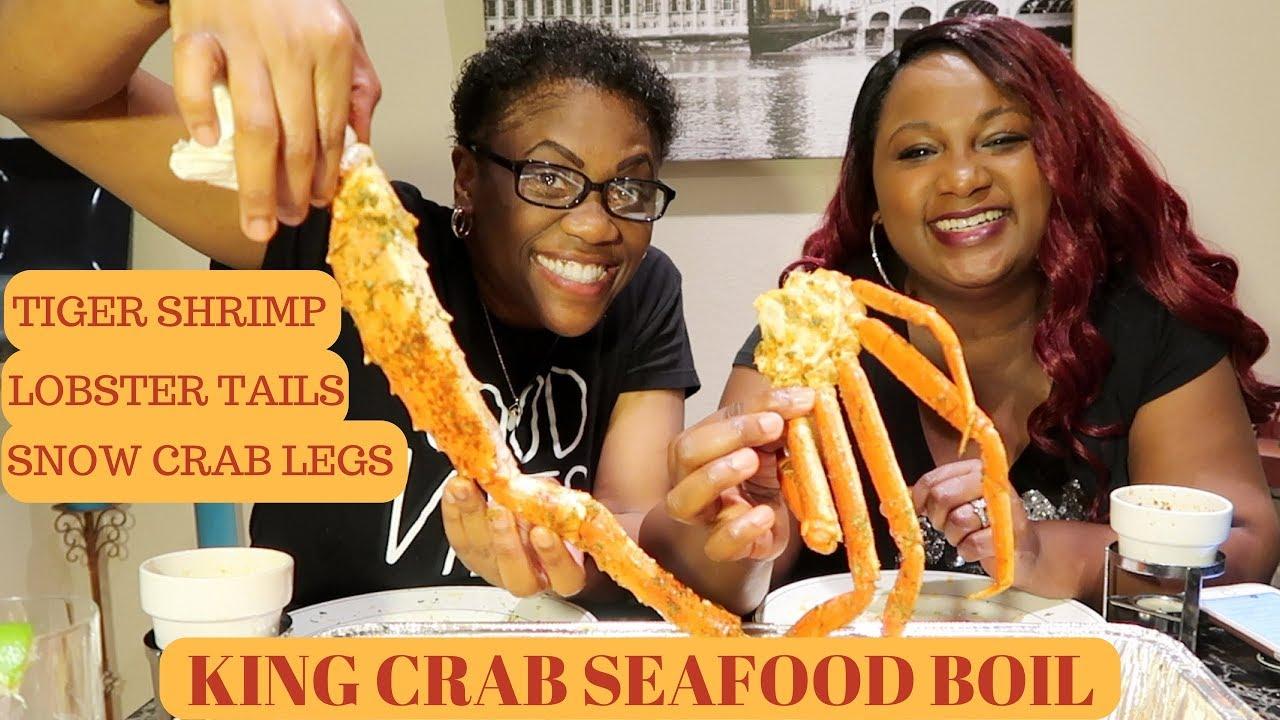 King Crab Seafood Boil Mukbang With My ...