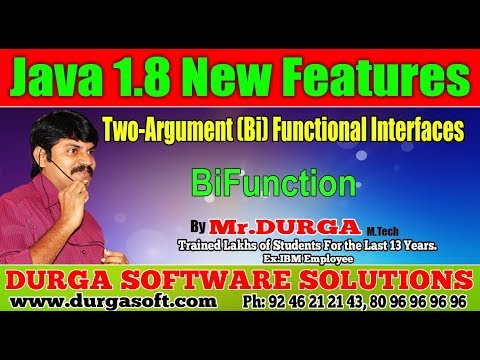 Java 8 New Features| | BiFunction || by Durga Sir