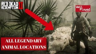 ALL 16 LEGENDARY ANIMAL LOCATIONS RED DEAD REDEMPTION 2