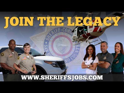 San Bernardino County Sheriff Recruitment Ad