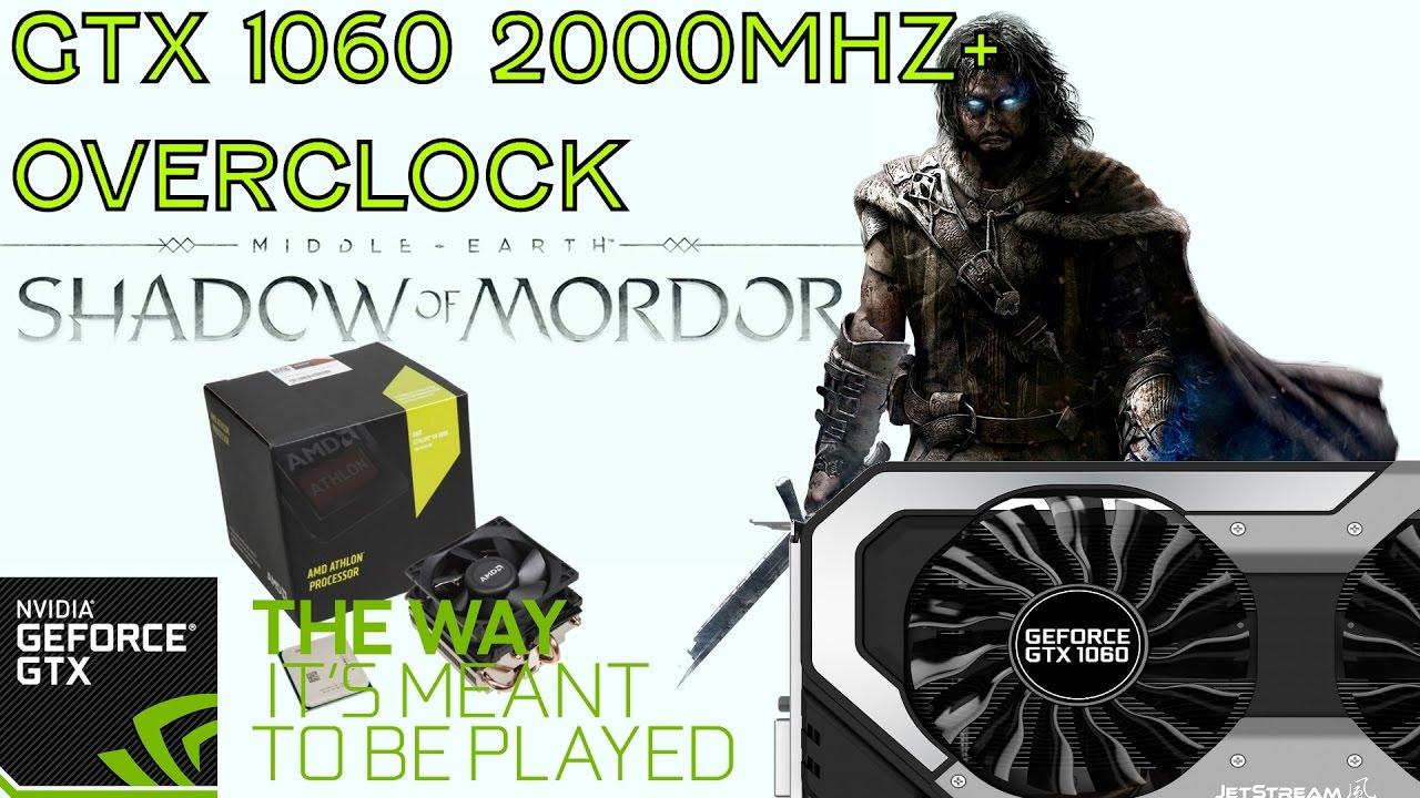 AMD 880k + GTX 1060 6gb Shadow Of Mordor Benchmark 1080p vs 1440p vs 4k - YouTube