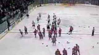 Sarnia/Oshawa Game Ends In Brawl (January 20th 2008)