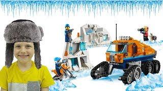 Грузовик ледовой разведки Лего Сити 60194 Даник играет с  Lego City Arctic Expedition