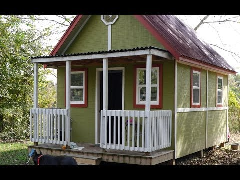 192 Square Foot Home for TWO- Small House Living Tour (In-Law Cabin)