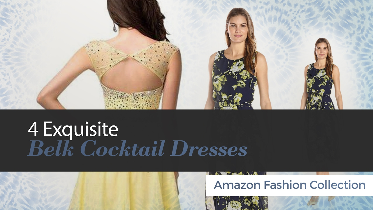 4 Exquisite Belk Cocktail Dresses Amazon Fashion Collection - YouTube