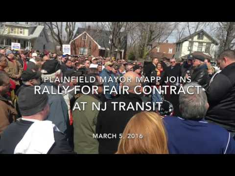 Plainfield Mayor Adrian Mapp Supports A Fair Contract for Transit Workers