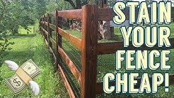 Recycled Motor Oil Fence Stain / DIY / How to Make your own wood stain
