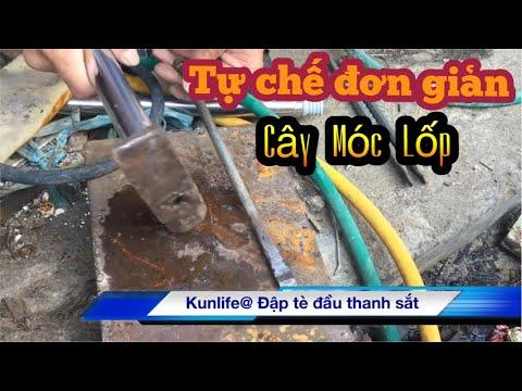 Mẹo Tự Chế Dụng Cụ Móc Lốp Xe Máy Từ Đồ Thải | Hải Đăng Vlogs