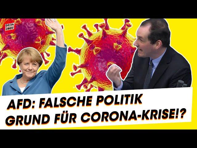 AfD-Politiker: Das ist der Grund für Corona-Krise!