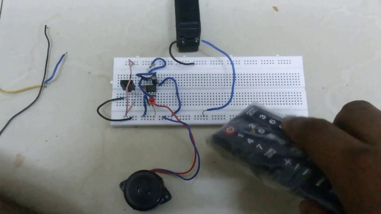 Ir Infrared Receiver Circuit Using Ic 555 Tsop1738 Youtube Ne555 Timer Remote Control Light Diagram