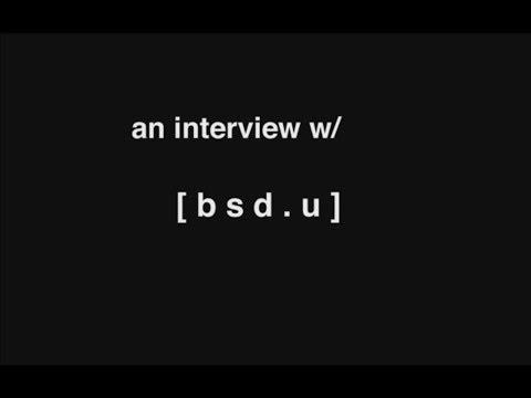 an interview w/ [ b s d . u ]