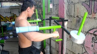CHEST AND SHOULDER WORKOUT   POOR MAN'S GYM