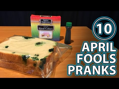 Top 10 APRIL FOOLS PRANKS on Friends & Family!!