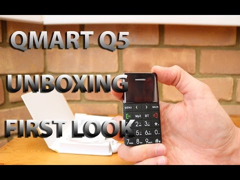 QMART Q5 Ultra Slim Card Phone - Unboxing and First Look
