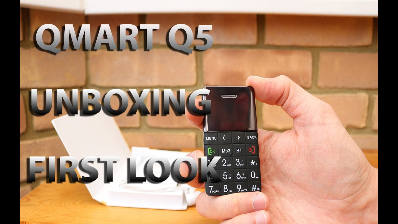 QMART Q5 Ultra Slim Card Phone - Unboxing and First Look by Geeky Stuff
