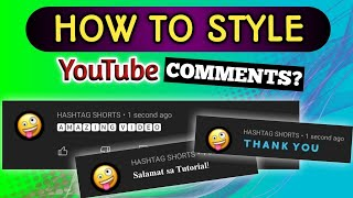 HOW TO STYLE YOUTUBE COMMENTS | #shorts #YouTubeTips #TipsAndTutorials