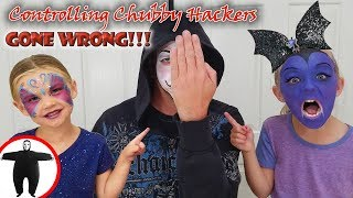3 Color Face Paint Challenge! Controlling Chubby Hackers as Game Master and Vampirina!