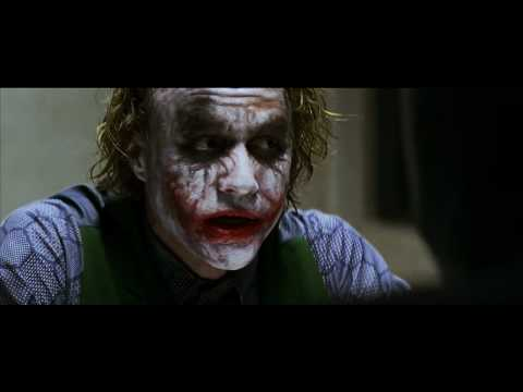 Batman interrogates the Joker