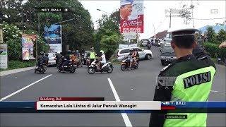NET. BALI - KEMACETAN LALU LINTAS DI JALUR PUNCAK WANAGIRI