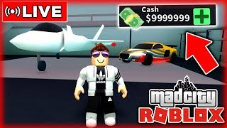 💸 *MONEY TRICKS* USE - MAD CITY ROBLOX 🔴 LIVE