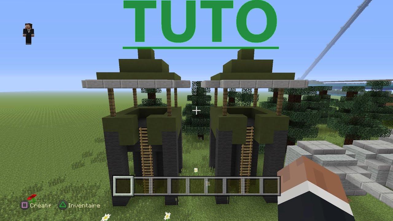 Top TUTO: Comment construire une tour de sniper militaire [Minecraft  YQ09