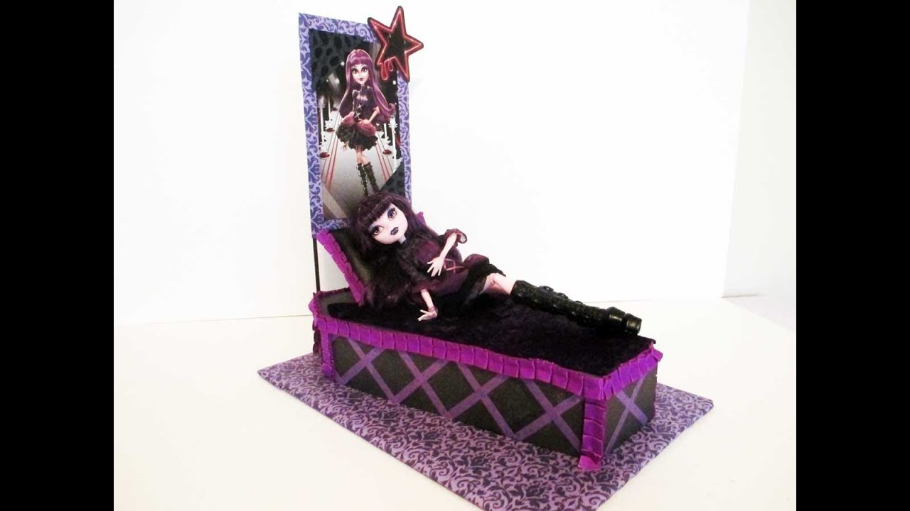 How To Make A Elissabat Doll Bed Tutorial/ Monster High   YouTube