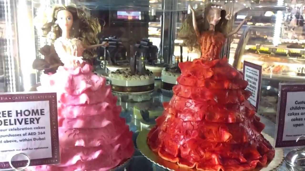 Brunetti Barbie Cakes At Dubai Mall 09052013 Youtube