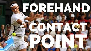 Tennis Forehand Contact Point - How To Hit Clean Forehands