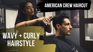 American Crew Boost Powder and Fiber with Short Haircut
