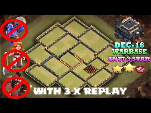 Th9 New War Base 2016 With Bomb Tower - Anti Queen Charge - Anti 3 Star Anti Everything