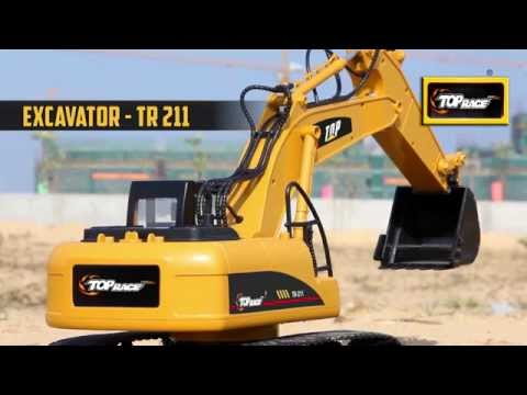 Top Race® 15 Channel Full Functional Professional RC Excavator~Heavy Duty Metal~ (TR-211)