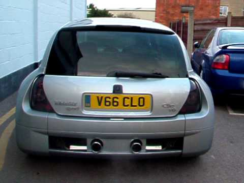 renault clio 3 0l v6 mid sport longlife exhausts bristol youtube