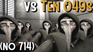 SCP Containment Breach - Playing vs Ten SCP-049s (no SCP-714)