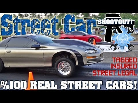 Street Car Shootout drag racing event video Spring 2013