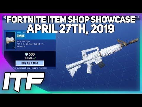 Fortnite Item Shop *NEW* DIVINE WRAP! [April 27th, 2019] (Fortnite Battle Royale)