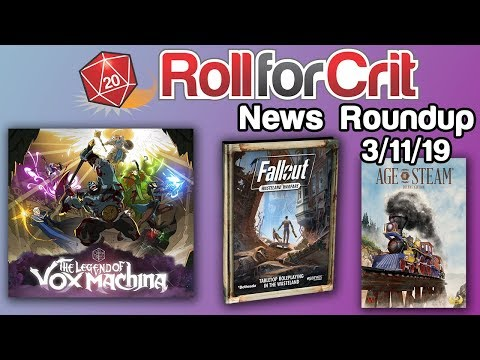 Critical Role Breaks Record + Fallout RPG Announced   News Roundup 3/11/19 thumbnail