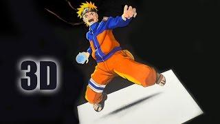 Como Dibujar a Naruto en 3D | Tutorial 3D