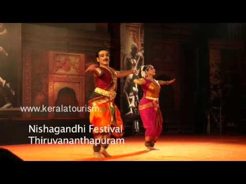 Vineeth and Lakshmi Gopalaswamy performing at Nishagandhi Festival