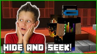 PLAYING HIDE AND SEEK IN MINECRAFT!!!