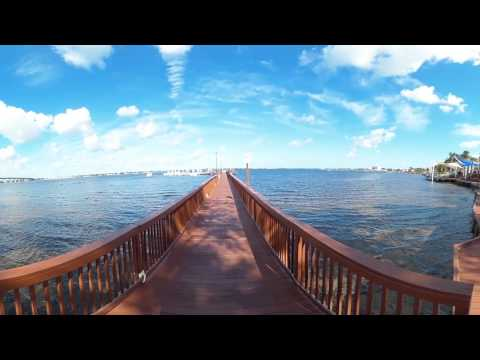 Walking Tour in 360 Degrees of Stuart, Florida Riverwalk