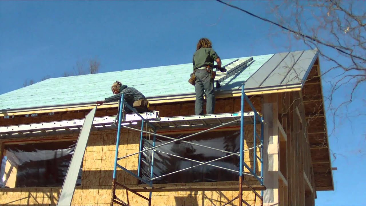 Standing Seam Metal Roof Installation For Newenhouse Kit