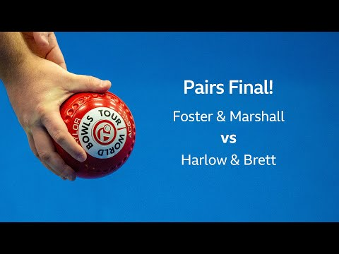 Just. 2020 World Indoor Bowls Championships: Day 11 Session 2 - Foster & Marshall Vs Harlow & Brett