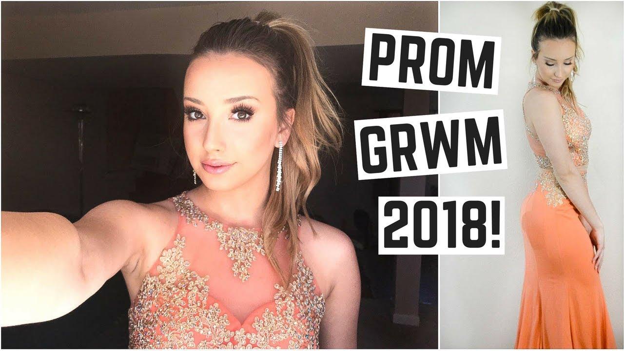 Prom Grwm 2018 Makeup Hair Dress Ideas Youtube