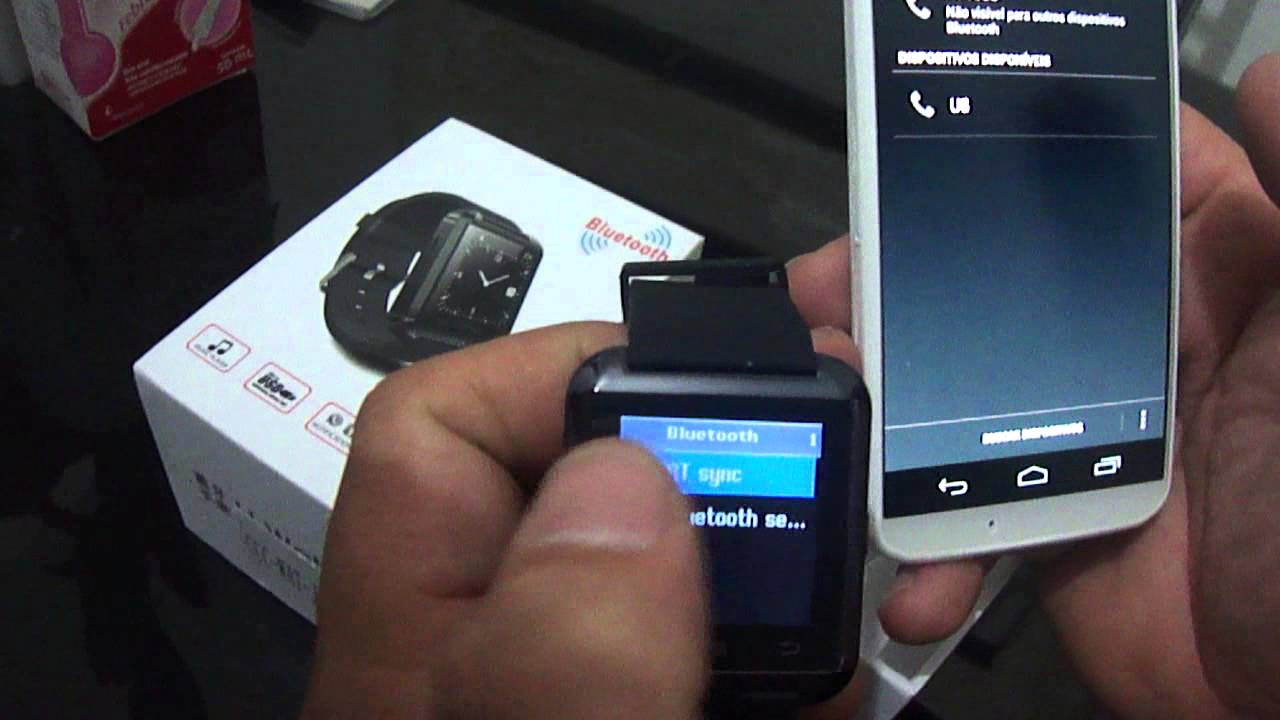 eea8bf77dad Smart Watch U8 - Relógio Smart para Android e Iphone - YouTube