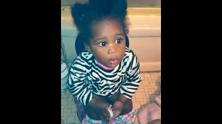jada using her potty and cleanig her nose. ..