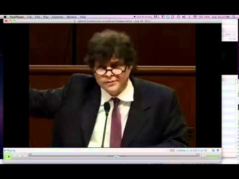William Galison testifies at the Committee on Judicial Compensation