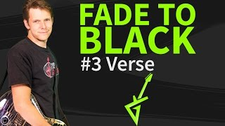 How To Play Fade to black On Guitar Lesson #3 Verse - Metallica Tutorial